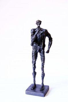 Standing man, Bronze 3/8, 49x15x13.5 cm