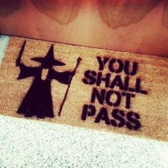 scarf you shall not pass gandolf lord of the rings welcome mat awesome