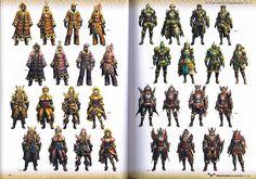 Monster Hunter CG Artworks 2 - Armors