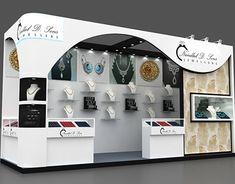 Harpreet Singh on Behance Exhibition Stall Design, Exhibition Display, Exhibition Stands, Exhibit Design, Office Interior Design, Office Interiors, Diy Storage, Diy Organization, Jewelry Store Design
