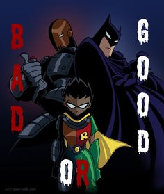 Robin the Apprentice of Slade, or the Son of Batman Teen Titans Fanart, Teen Titans Robin, Teen Titans Go, Slade Teen Titans, Deathstroke, Nightwing, Son Of Batman, Gotham Batman, Batman Art