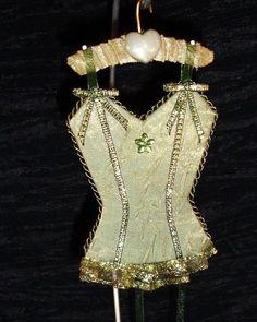 Sage Garden UNDERMENTS Christmas Lingerie Ornament Decoration OOAK Handmade  (seller i.d. elina133)
