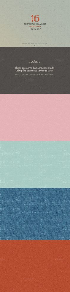 16 Seamless Textures & Styles by MyCreativeLand on Creative Market