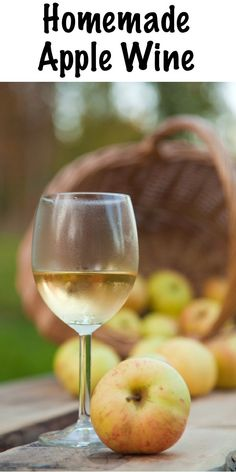 Homemade Apple Wine ~ Apple wine is easy to make at home with fresh pressed or store-bought juice. Just a small amount of equipment and you'll be well on your way to home winemaking! cider recipes for beginners Homemade Wine Recipes, Homemade Alcohol, Homemade Liquor, Easy Apple Wine Recipe, Mead Wine, Champagne Yeast, Wine And Liquor, Drink Wine, Liquor Drinks