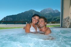 4**** Hotel Gartnerkofel, Austria: Welcome to our hotel whirlpool! Enjoy an amazing view to the Austrian mountains. Whether you are hiking in spring or summer or skiing in winter (our hotel is right next to the skiing slopes) - Austria is always a good choice for holidays :-) Castaway Island, Beach Dinner, Ski Slopes, Wellness Spa, Felder, Top Hotels, Alps, Night Club, Austria