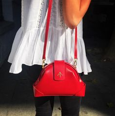 DEMI in RED!! MANU ATELIER HANDCRAFTED LEATHER GOODS, HANDBAGS