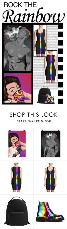 """""""Mischievous Design (28)"""" by irresistible-livingdeadgirl ❤ liked on Polyvore featuring MANGO, T.U.K., mango, rainbow, gay, combatboots and docmartins"""