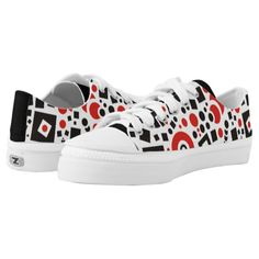 Circles and square shapes abstract patterns Low-Top sneakers
