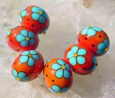 Catherine Steele Orange And Turquoise, Orange Color, Aqua, Clay Beads, Lampwork Beads, Bead Art, Design Process, Rock Art, Felting
