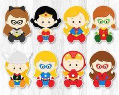 Pieza central de niña superhéroe superhéroes niña por KidzParty