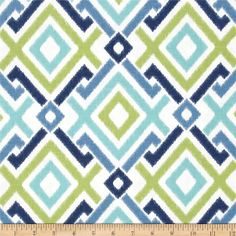Swavelle/Mill+Creek+Jacq+Diamonds+Lagoon from @fabricdotcom  Screen+printed+on+cotton+duck;+this+versatile+medium+weight+fabric+is+perfect+for+window+accents+(draperies,+valances,+curtains+and+swags),+accent+pillows,+duvet+covers+and+upholstery.+Create+handbags,+tote+bags,+aprons+and+more.+Colors+include+cobalt,+aqua,+kiwi+and+white.