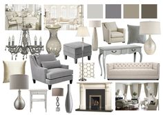 Living Room Mood Boards done on Photoshop