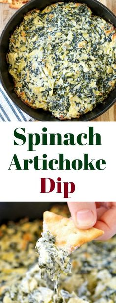 If you're looking for a crowd-pleasingappetizer that is sure to be a hit (and is super easy), this hot, cheesy Baked Spinach Artichoke Dip Recipe is it!