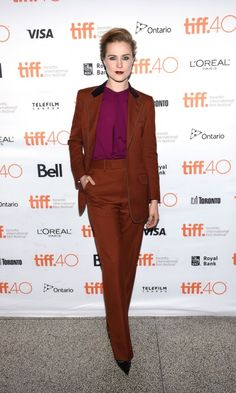 All the Red Carpet Photos From TIFF 2015, Updated Daily! - Evan Rachel Wood in Gucci
