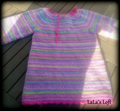 Leftover yarn can turn into something beautiful :) Crocket top - My own design #crocket #girl #top