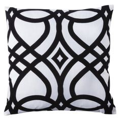 B is always in style!    Flocked Pillow - Black. $19.99