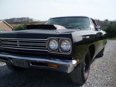 UNRESTOREDORIGINAL1969 1/2 440+6 BBL A-12PLYMOUTH ROADRUNNERIN EXISTENCE! THIS CARHAS A UFS CERTIFIED UNRESTORED FACTORY STOCK CERTIFICATE. 1 OF 388 4-SPEED COUPES BUILT. EXTREMELY RARE SINISTER BLACK ON BLACK!THE CAR RETAINS 100% OF IT'S ORIGINAL SHEETMETAL AND OVER 60% OF IT'S ORIGINAL BLACK PAINT FROM THE FACTORY! THIS CAR IS VERY CLEAN, DRY,TIGHT ANDRUNS AND DRIVES EXCELLENT. IT PULLS THROUGH THE GEARS REAL HARD AND IS REALLY FAST LIKE A 440+6BBL SHOULD BE! VERY SUCCESSFUL AND…
