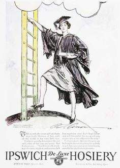 87a863ae1ab I love that this hosiery ad shows a woman with some real ambition! Roaring  20s