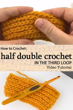 Learn how to crochet into the third loop with this video tutorial . This creates a great texture. #crochetvideo #crochettutorial #crochetstitch