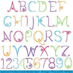 Uppercase Doodle Alphabet - Luvly Marketplace | Premium Design Resources #clipart #alphabet
