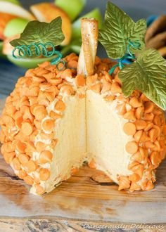 Pumpkin Pie Cheese Ball - I'm not sure I've ever seen pumpkin spice morsels. I'll have to keep an eye out for them.