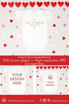 Baby Mockup Valentine's Day Valentines Day Bodysuit image 1 Trendy Baby Clothes, Personalized Door Mats, Valentines For Kids, Image Editing, Mockup, Fabric Design, Your Design, Shirt Designs, October