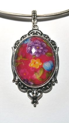 """Pendant """"Flowers"""" - pinned by pin4etsy.com Filigree, My Design, Etsy Shop, Pendant Necklace, Glass, Fabric, Flowers, Jewelry, Tejido"""