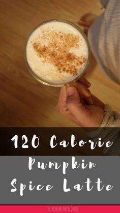 Healthy Pumpkin Spice Latte under 120 cals!