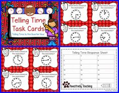Classroom Freebies Too: Telling Time Task Cards