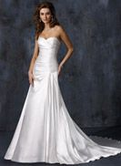 Madison - by Maggie Sottero (like the fabric and cross over in front; not the fit)