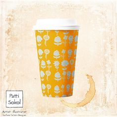 I'd love to see one of my patterns on a coffee cup!  #pattisokol #12monthsofpaint  #helloartgallery  #picame #art_we_inspire  #graphicroozone #creativewomen  #wherewomencreate  #printandpattern  #illustrationartists #designinspiration #calledtobecreative #dslooking #dspattern #surfacedesigner #surfacedesign #painteveryday #illustrationartists #doitfortheprocess #leuchtturm1917 #whatsinsideyournotebook  #thedailygallery  #lifelivedbeautifully  #theeverygirl #makersco @starbucks…