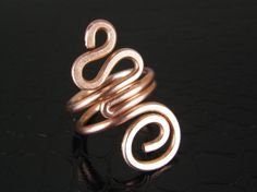 Copper Snake Ring Mens or Womens Any Size Made to by BonzerBeads, $19.00