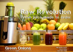 Fresh raw whole fruit juices Fruit Juice, Fruit Smoothies, Pressed Juice, Green Onions, Juices, No Cook Meals, Lunch, Fresh, Cooking