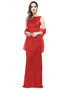 c92688bd6b2 Jicjichos 2019 Women s Evening Dress Sequin Mermaid Long Formal Prom Gown  J059 at Amazon Women s Clothing store
