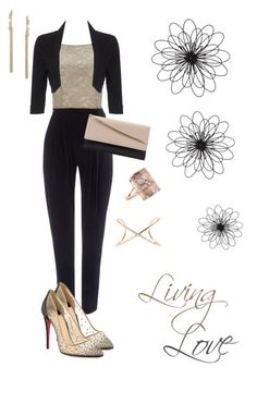 """Living Love."" by campanellinoo on Polyvore featuring Wallis, Christian Louboutin, Phase Eight, Alexis Bittar, Universal Lighting and Decor and Roberto Marroni"
