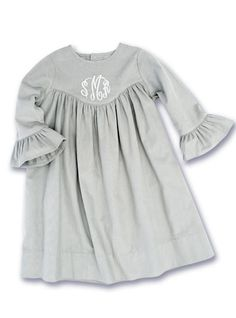 Kelly's Kids Gray Cord Dress