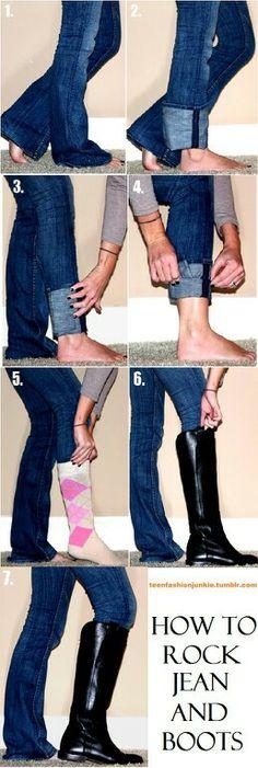 how to do it cuz I don't wear skinny jeans lol