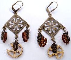 Broken Gears Chandelier Earrings by CrashsCuriosities on Etsy