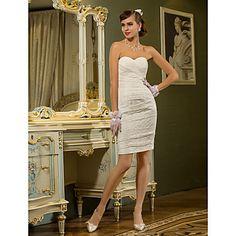 iubito teaca / coloana scurta rochie mini / nunta dantelă (710756) – USD $ 97.49