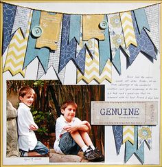 Scraptastic Club: Banner Love  by Madeline