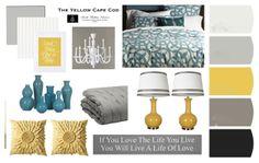 The Yellow Cape Cod Living Room Inspiration, Home Decor Inspiration, Color Inspiration, Bedroom Colors, Bedroom Decor, Bedroom Ideas, Master Bedroom, Home Office Decor, Diy Home Decor