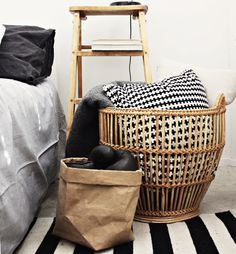 A great way to style those thrift store baskets.