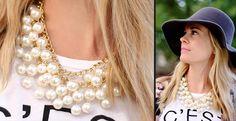 Pearl Bobble Necklace | ToAdorn.com