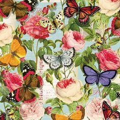 Lula Bijoux - Butterflies & Roses  -Quilt Fabrics from www.eQuilter.com