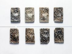Mycenaean Glass Tiles with Human Faces in Profile - Glass, 14th-12th century BC