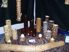 Check out http://thebamboogroove.com!  Bamboo Lights and candle shades