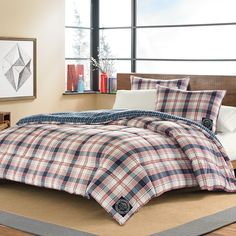Eddie Bauer Sun Valley Plaid Comforter Set. #EddieBauer #Plaid #Lodge #BeddingStyle #bedroom