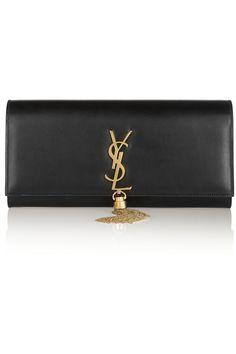 Saint Laurent|Monogramme leather clutch