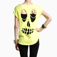 Skeleton Cut Out Top