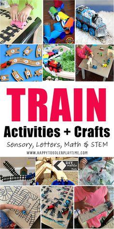 Train Preschool Activities, Transportation Activities, Indoor Activities For Kids, Sensory Activities, Toddler Preschool, Learning Activities, Baby Sensory, Indoor Games, Kids Learning